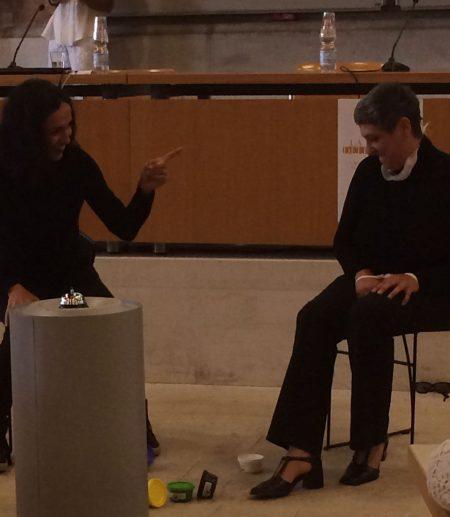 Io e Toni nell'ultimo sketch sull'ascolto