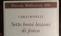Sette brevi lezioni di fisica, di Carlo Rovelli, dono di Daniele