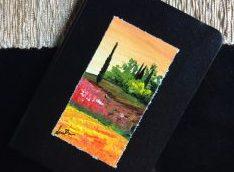 quaderno con copertina dipinta a mano, dono di Debora